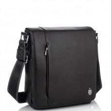 Кожаная мужская сумка через плечо с клапаном Royal Bag RB70011 - Royalbag Фото 2