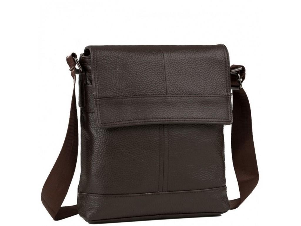 Мессенджер через плечо мужской кожаный коричневый Tiding Bag M38-3822C - Royalbag Фото 1
