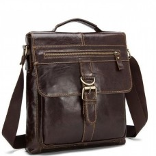 Большая мужская сумка через плечо из натуральной кожи Bexhill Bx1292C - Royalbag Фото 2