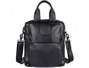 Вертикальна чоловіча сумка через плече шкіряна Tiding Bag 7266A - Royalbag