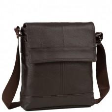 Мессенджер через плечо мужской кожаный коричневый Tiding Bag M38-3822C - Royalbag Фото 2