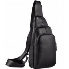 Мужской кожаный рюкзак-слинг на одну шлейку Tiding Bag A25F-001-1A - Royalbag