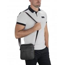 Мессенджер через плечо мужской кожаный коричневый Tiding Bag A25F-007B - Royalbag