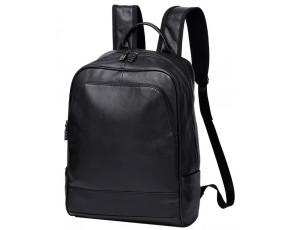 Рюкзак мужской кожаный черный Tiding Bag A25F-11685A - Royalbag