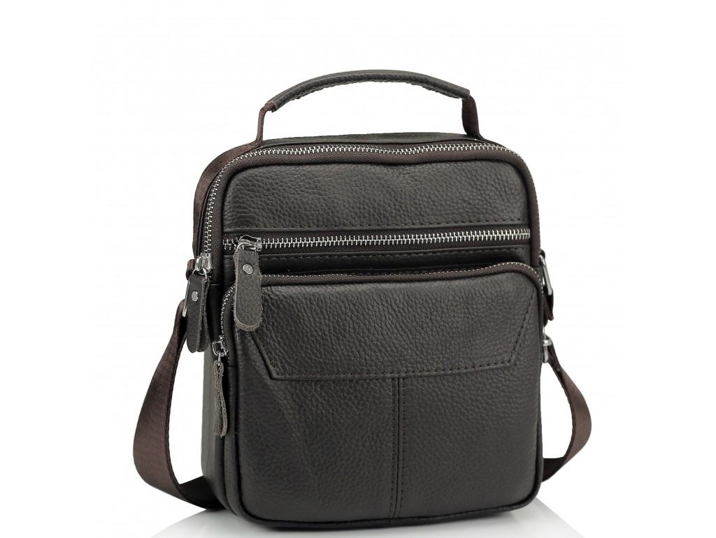 Сумка через плечо мужская кожаная Tiding Bag A25F-1436B - Royalbag Фото 1
