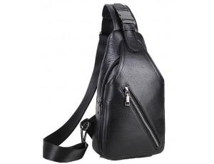 Сумка на грудь мужская кожаная Tiding Bag A25F-1912A - Royalbag