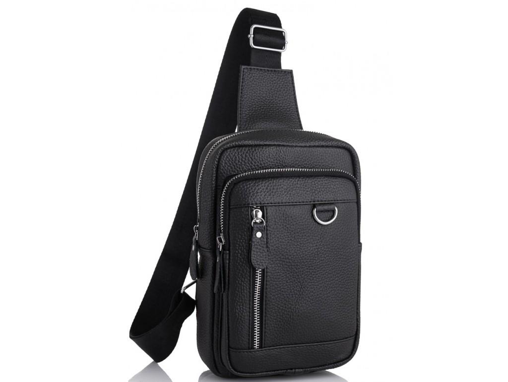 Мужской кожаный рюкзак на одну лямку через плечо Tiding Bag A25F-6315A - Royalbag