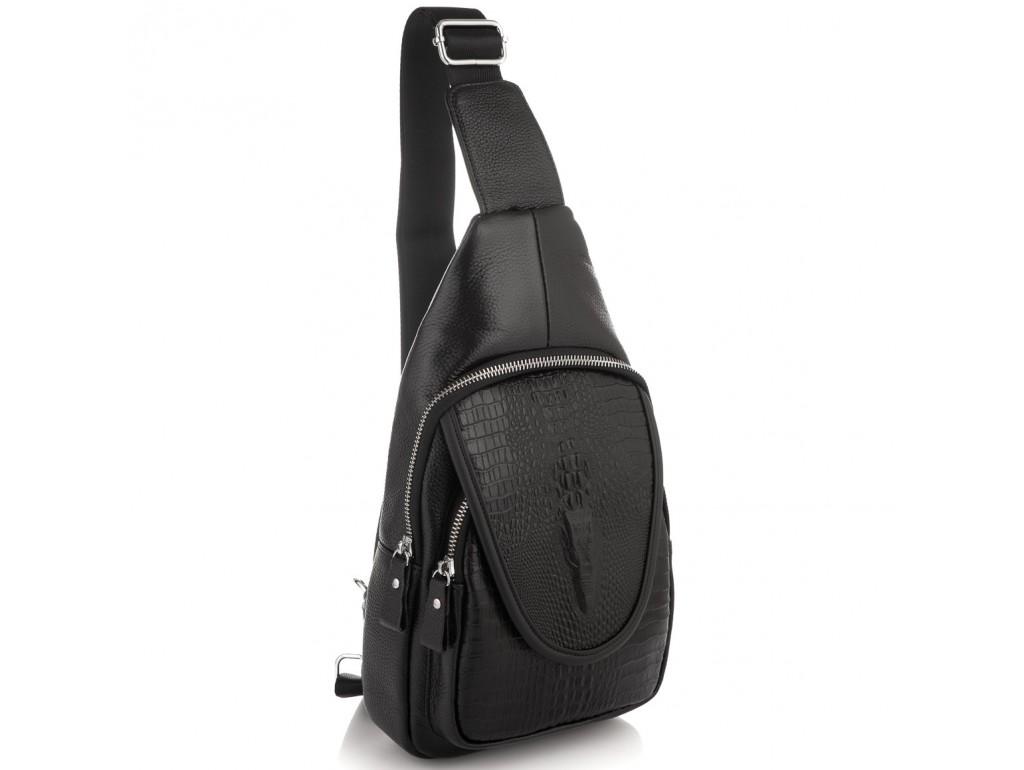 Мужской слинг на одно плечо фактурный Tiding Bag A25F-6688A - Royalbag Фото 1