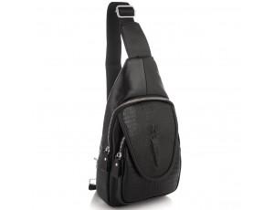 Чоловічий слінг на одне плече фактурний Tiding Bag A25F-6688A - Royalbag
