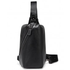 Мужской кожаный рюкзак-слинг нагрудный Tiding Bag A25F-688A - Royalbag Фото 2