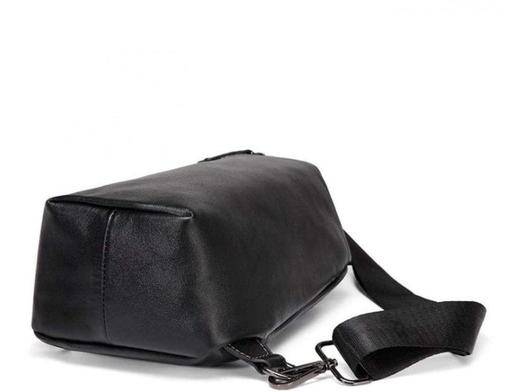 Мужской кожаный рюкзак-слинг нагрудный Tiding Bag A25F-688A - Royalbag