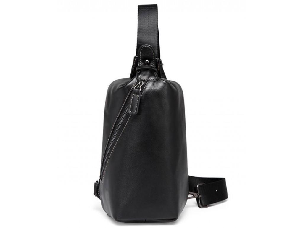 Мужской кожаный рюкзак-слинг нагрудный Tiding Bag A25F-688A - Royalbag Фото 1