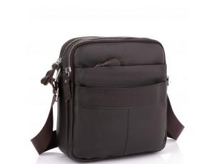 Кожаный мессенджер мужской коричневый Tiding Bag A25F-8017B - Royalbag
