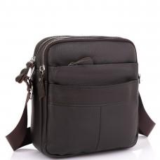 Кожаный мессенджер мужской коричневый Tiding Bag A25F-8017B - Royalbag Фото 2