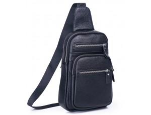 Чоловічий слінг на одне плече чорний Tiding Bag A25F-8791A - Royalbag