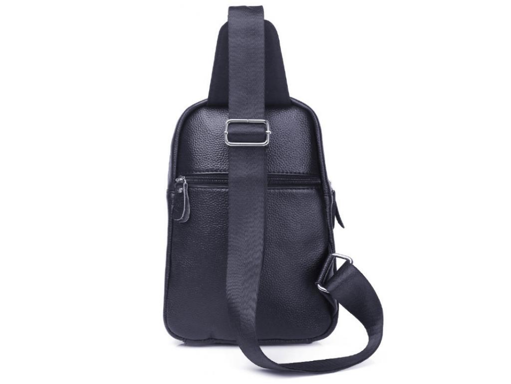 Мужской слинг на одно плечо черный Tiding Bag A25F-8791A - Royalbag