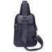 Мужской слинг на одно плечо черный Tiding Bag A25F-8791A - Royalbag Фото 4