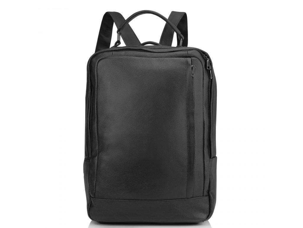 Мужской кожаный черный рюкзак для ноутбука Tiding Bag A25F-8834A - Royalbag