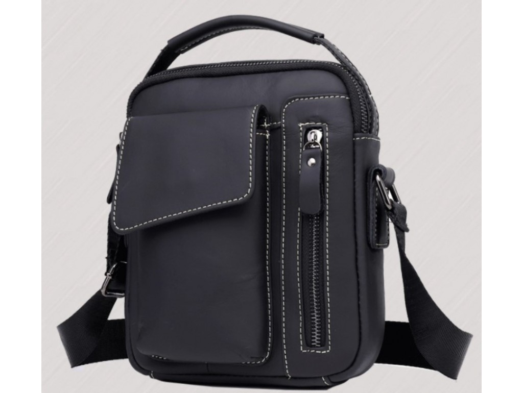 Мужской кожаный мессенджер через плечо Tiding Bag A25F-90119A - Royalbag