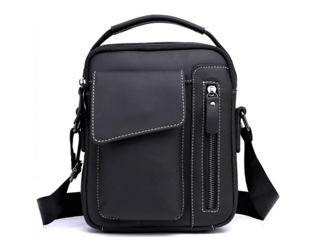 Мужской кожаный мессенджер через плечо Tiding Bag A25F-90119A - Royalbag Фото 1