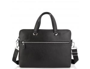 Сумка для ноутбука черная кожаная Tiding Bag A25F-9157-1A - Royalbag