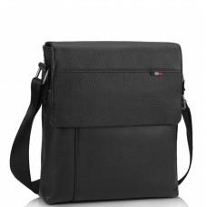 Мужская кожаная сумка через плечо черная Tiding Bag A25F-98075A - Royalbag Фото 2