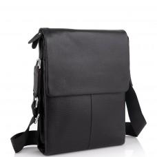 Кожаная черная сумка мужская через плечо Tiding Bag A25F-9906A - Royalbag