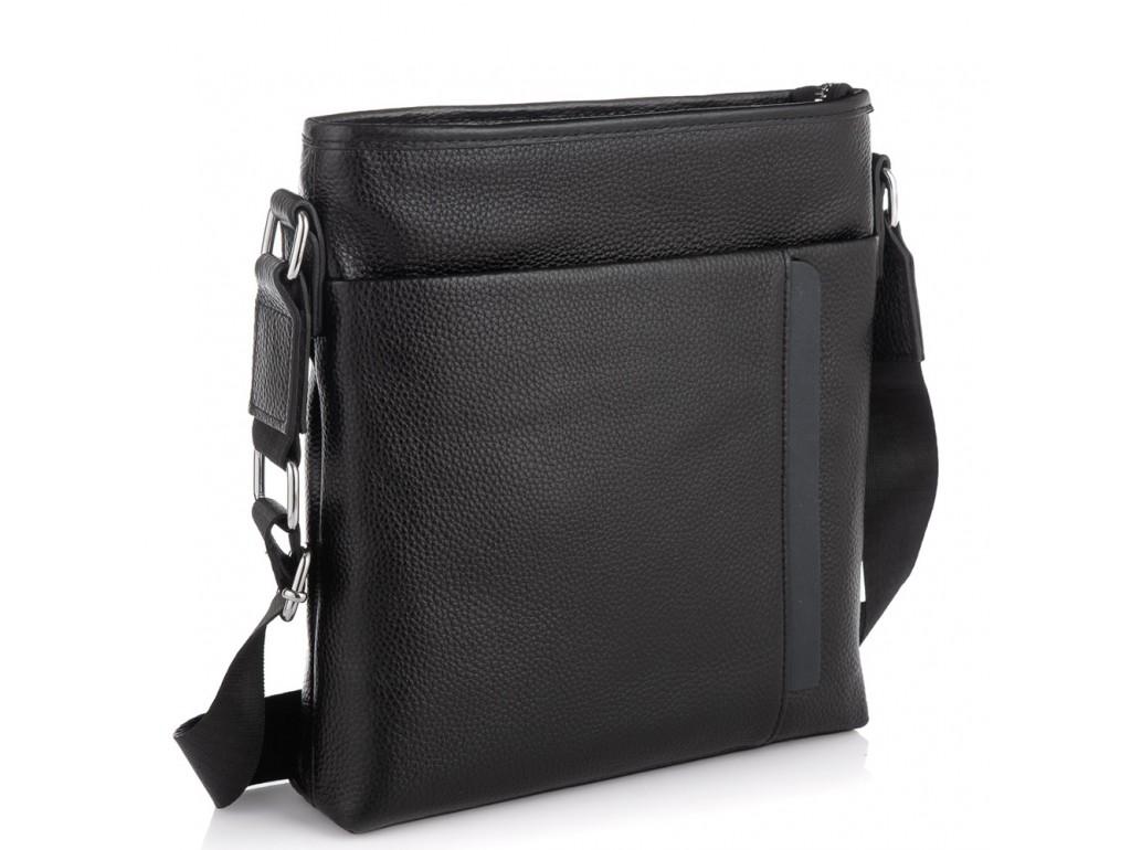 Мужская кожаная сумка через плечо черная Tiding Bag A25F-9913-3A - Royalbag Фото 1