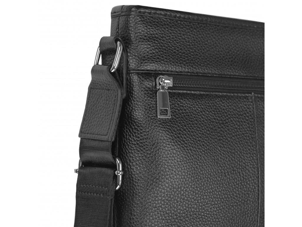 Мужская кожаная сумка через плечо черная Tiding Bag A25F-9913-3A - Royalbag