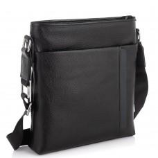 Мужская кожаная сумка через плечо черная Tiding Bag A25F-9913-3A - Royalbag Фото 2