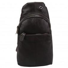 Кожаный коричневый слинг через плечо Tiding Bag A25F-FL-5311B - Royalbag