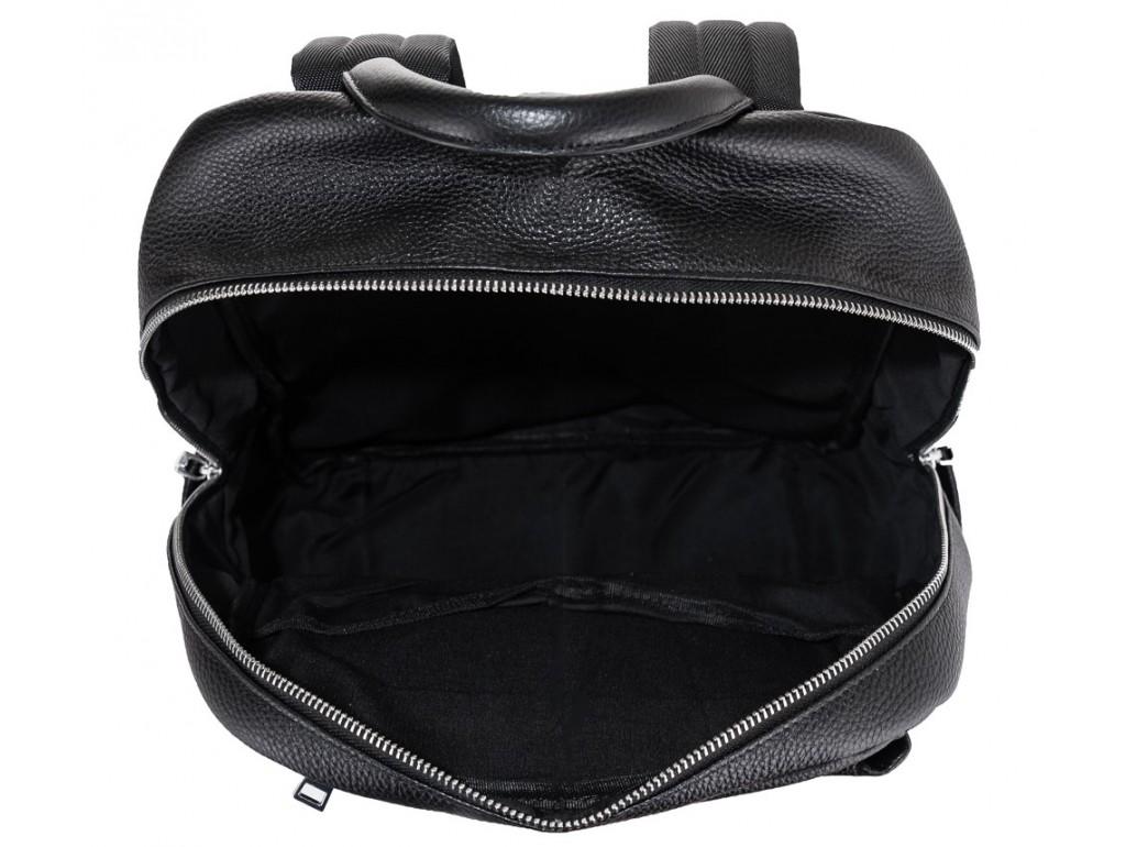 Мужской кожаный рюкзак для ноутбука черный Tiding Bag B3-154A - Royalbag