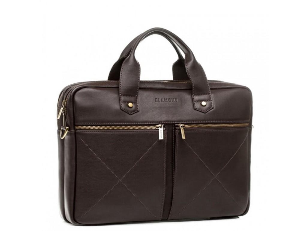 Мужская кожаная сумка для документов премиального качества Blamont Bn012C - Royalbag Фото 1
