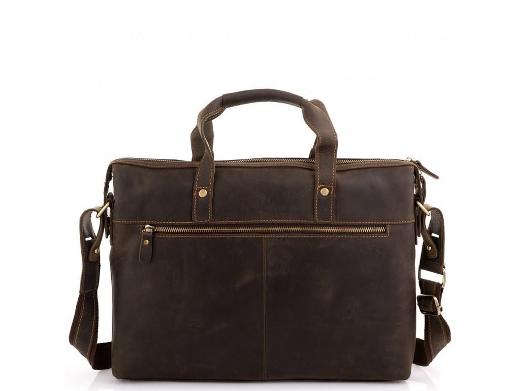 Деловая мужская кожаная сумка для ноутбука и документов Tiding Bag D4-004R - Royalbag