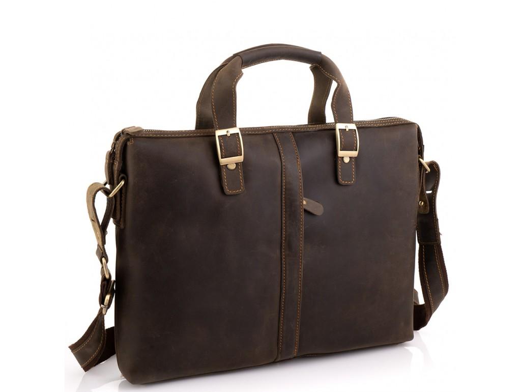 Деловая мужская кожаная сумка для ноутбука и документов Tiding Bag D4-004R - Royalbag Фото 1