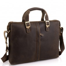 Деловая мужская кожаная сумка для ноутбука и документов Tiding Bag D4-004R - Royalbag Фото 2