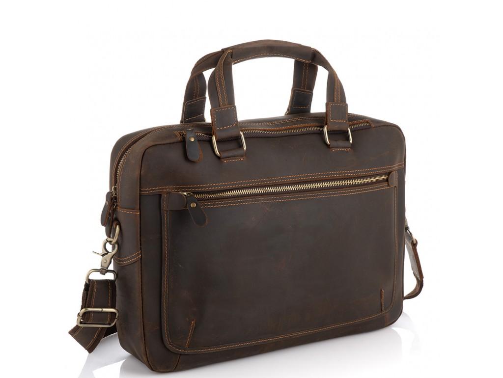 Винтажная сумка для ноутбука коричневая Tiding Bag D4-005R - Royalbag Фото 1