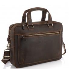 Винтажная сумка для ноутбука коричневая Tiding Bag D4-005R - Royalbag