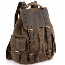 Рюкзак чоловічий з вінтажної шкіри коричневий Tiding Bag D4-011R - Royalbag