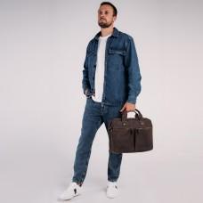 Винтажная сумка для ноутбука коричневая Tiding Bag D4-012R - Royalbag