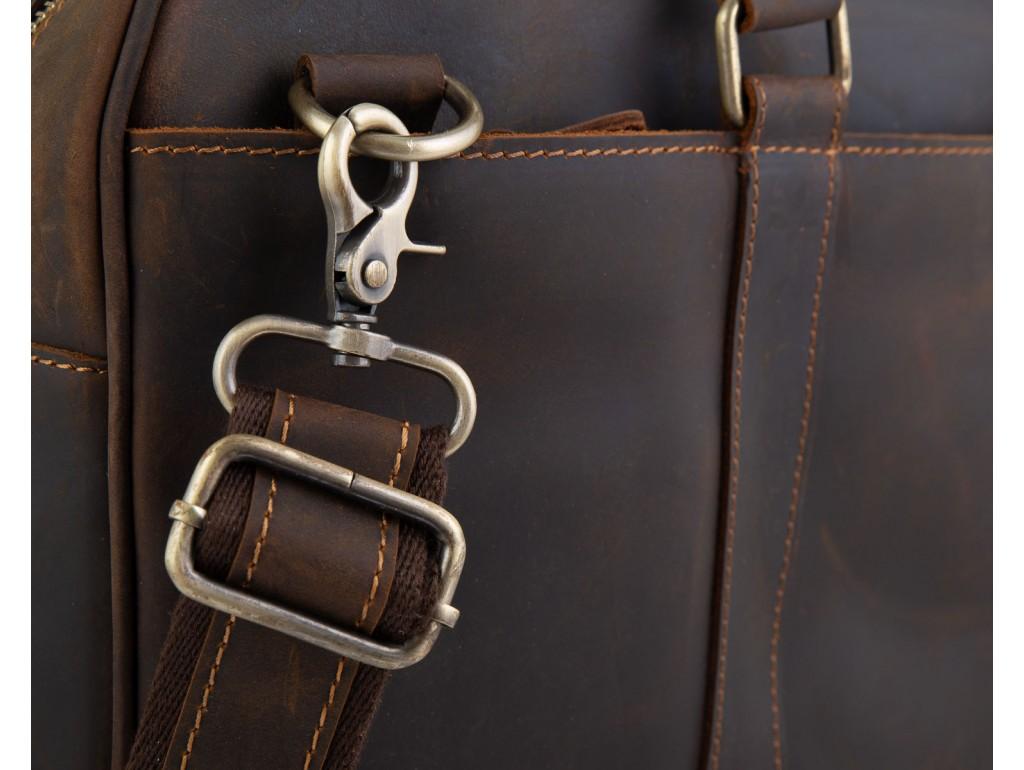 Винтажная коричневая сумка для ноутбука Tiding Bag D4-023R - Royalbag