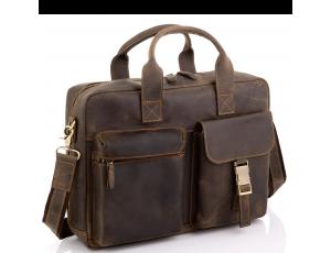 Винтажная кожаная сумка для ноутбука Tiding Bag D4-058R - Royalbag
