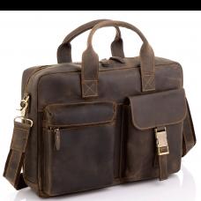 Винтажная кожаная сумка для ноутбука Tiding Bag D4-058R - Royalbag Фото 2