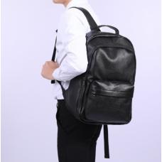Кожаный черный рюкзак Tiding Bag FL-TRCH-008A - Royalbag