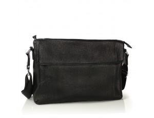 Сумка через плечо мужская кожаная черная Tiding Bag FL-TRCH-6903A - Royalbag