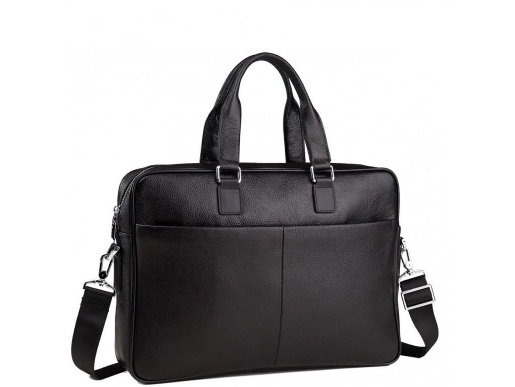 Сумка-портфель мужская кожаная для ноутбука и документов Tiding Bag M8018A - Royalbag Фото 1