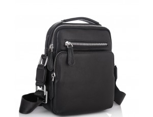 Мужская кожаная сумка-барсетка через плечо с ручкой Tiding Bag M2605-2A - Royalbag