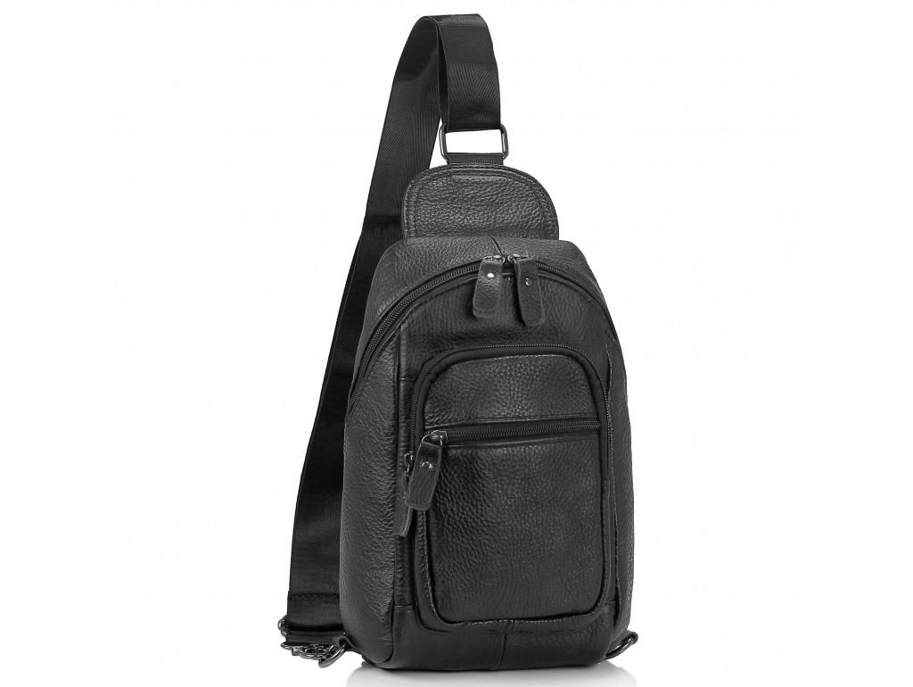 Мужская сумка-слинг черная Tiding Bag M35-1008A - Royalbag Фото 1