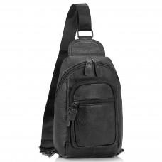 Мужская сумка-слинг черная Tiding Bag M35-1008A - Royalbag