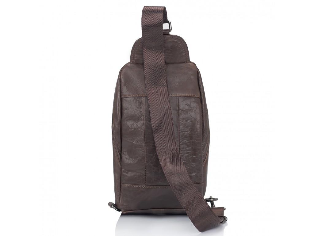 Мужская сумка-слинг коричневого цвета Tiding Bag M35-1008C - Royalbag